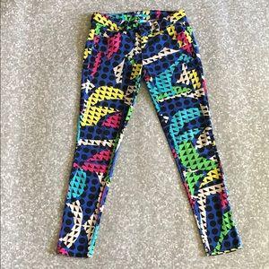 Geometric patterned pants Size 7